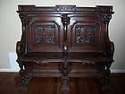 A Very Fine 19th Century Carved Oak Choir Bench