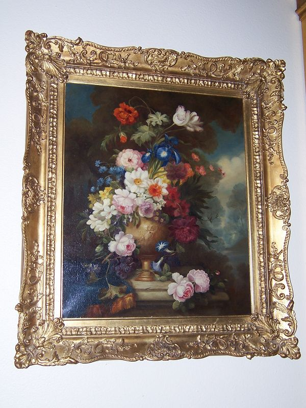A Very Good Still Life with Flowers, English School, 19th Century