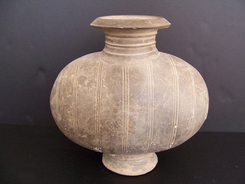 A Very Good Qin or Han Dynasty Cocoon Jar
