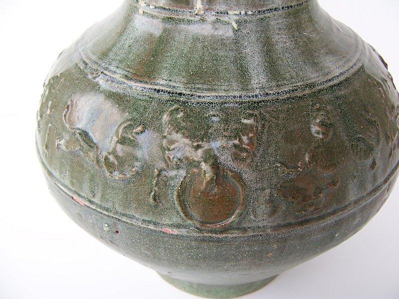 A Very Good Han Dynasty Hu Jar 100 BC - 08 AD