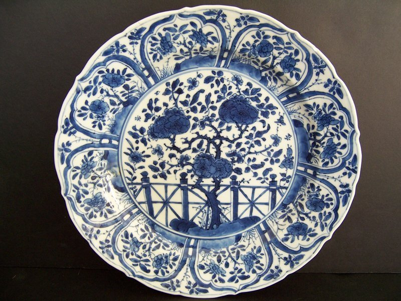 A Kangxi Period (1662-1722) Blue and White Export Plate