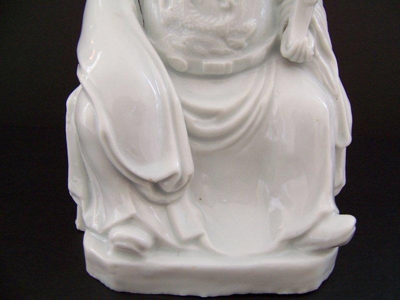 A Fine Kangxi (1662-1722) Blanc de Chine Dignitary