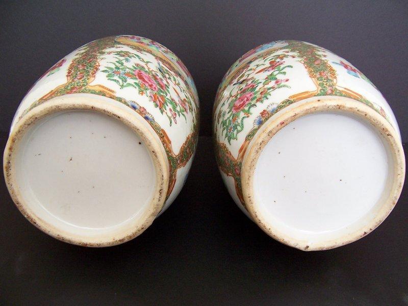 Very Fine Rose Medallion Vases, 19th Century