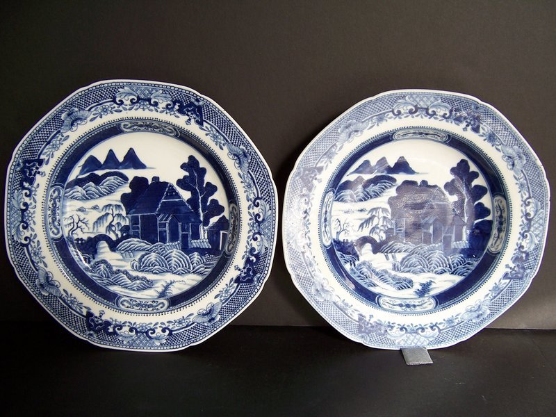 A Fine Pair of Qianlong (1736-1795) Soft Paste Dishes