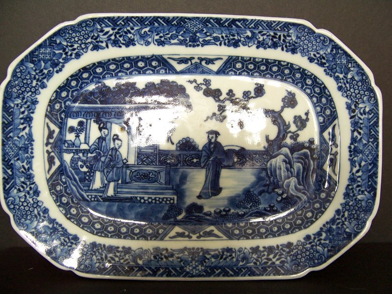 A Fine Qianlong (1736-1795) Blue and White Tureen Base