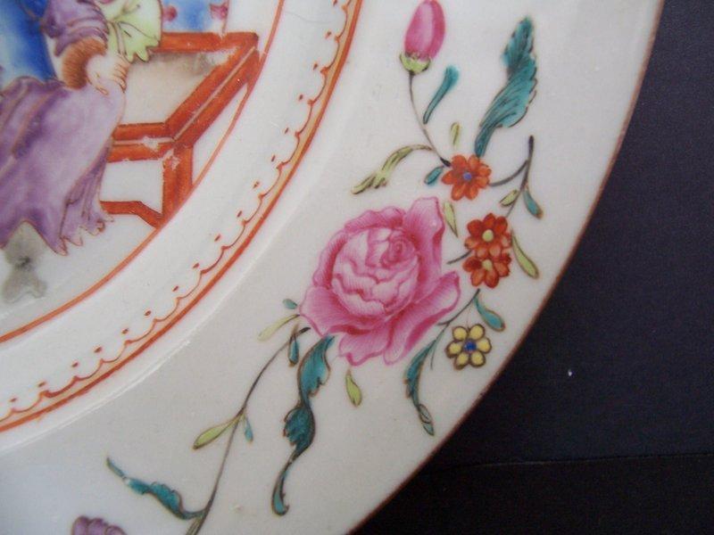 A Very Good Qianlong (1736-1795) Famille Rose Dish