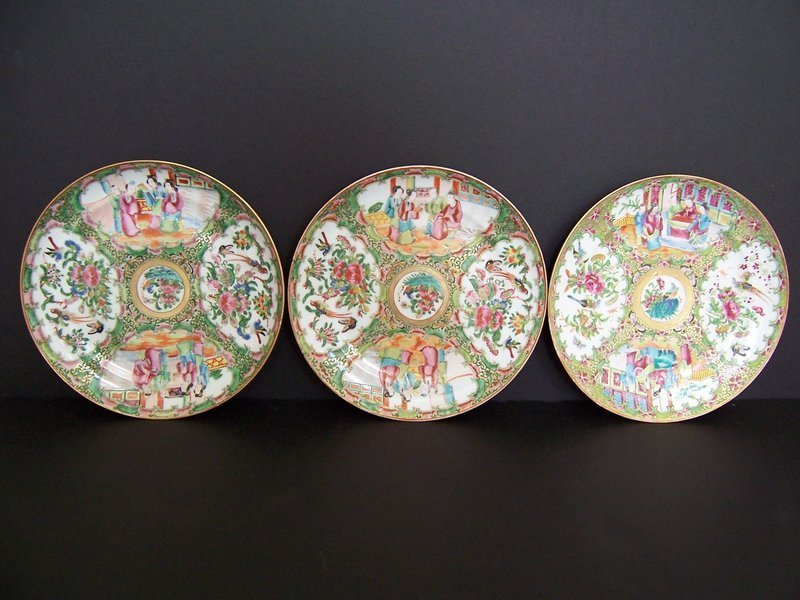 A High Quality Rose Medallion Plate, 19th Century