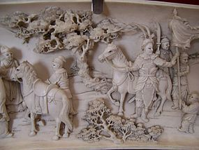 A Large Carved Ivory Masterpiece, late 19th cent