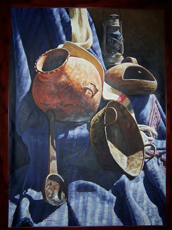A Fine Original Still Life Painting by Marcial Conza
