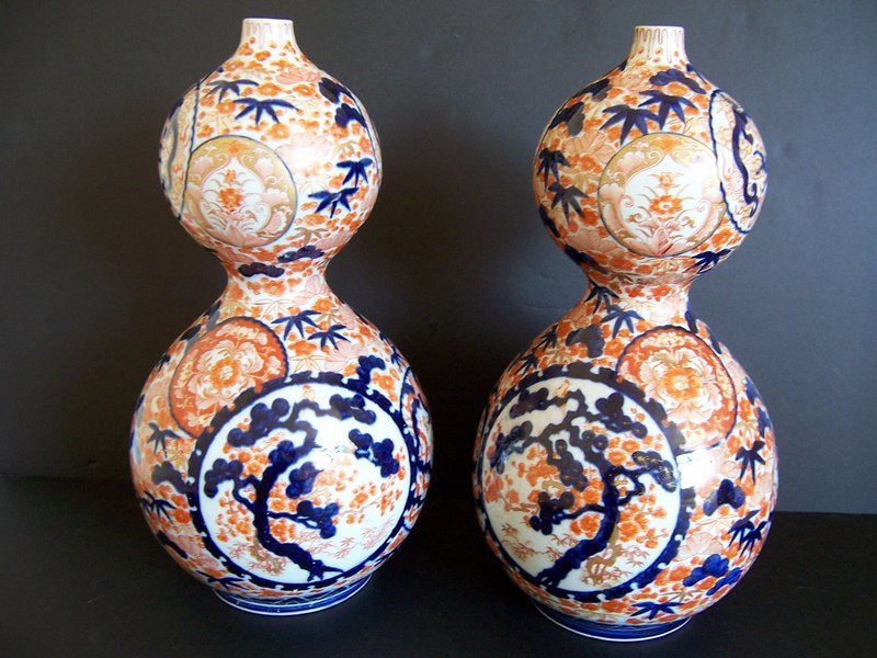 A Published and Massive Pair of Imari Vases, Meiji