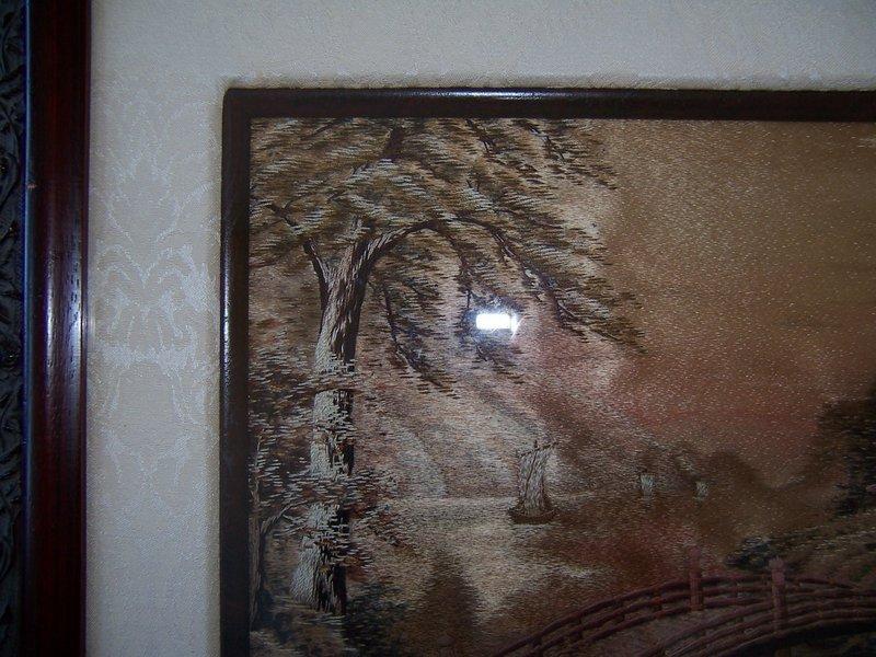 A Japanese Silk Thread Composition of a Shinto Shrine