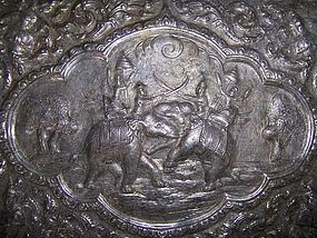 A Good Thai  Repousse Silver Box