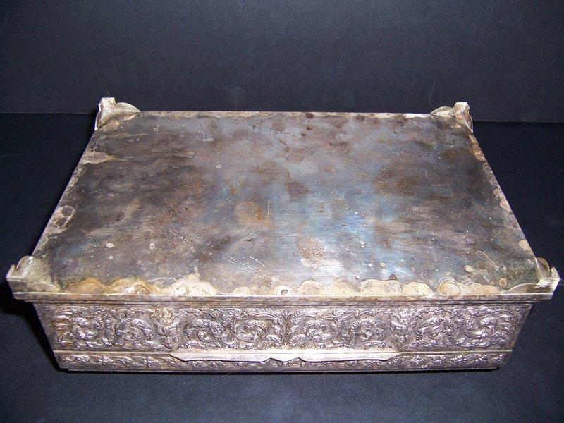 A Good Thai  Repousse Silver Box