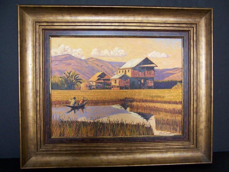 A Beautiful Original Oil Painting From Inle Lake Burma