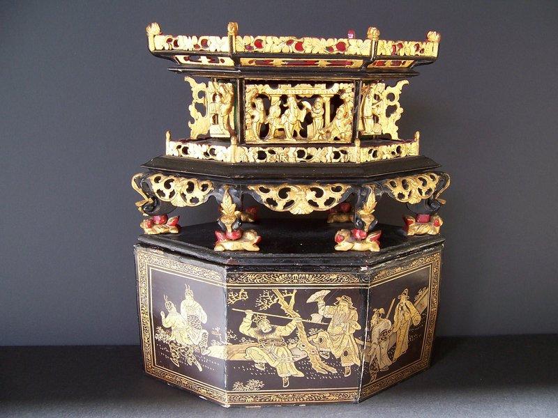 A Very Rare Peranakan Chai Hup, 19th Century