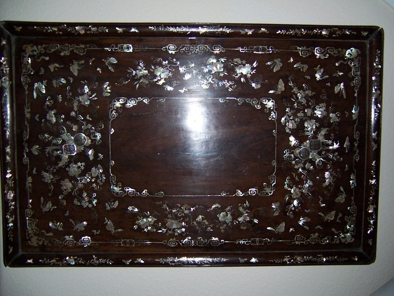 A Masterpiece Annamese Mother of Pearl Tray, 19th Cent