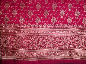 A Beautiful Vintage Indian Silk Sari