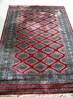 A Fine Vintage Pakistani Wool and Silk Bokhara Rug