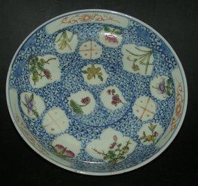 Bowl with flower fields, Guangxu ( 1875 - 1908 )