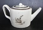 Teapot European sepia motif, Qianlong (1736�1795)