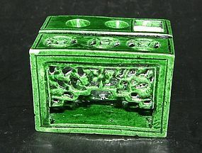 Chinese Pen or Brush Holder, Kangxi ( 1662 -1722 )