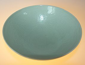 Bright celadon bowl, Late Qing
