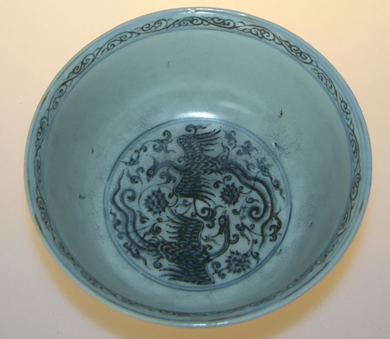 Early Ming cup. Excellent painting, around year 1400 - 1450