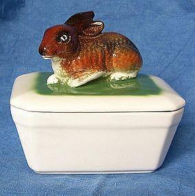 Rabbit Butter Jar, around 1800