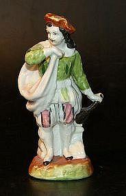 European porcelain figurine around 1800