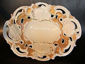 Meissen gold and bronze plate around 1850 - 1860