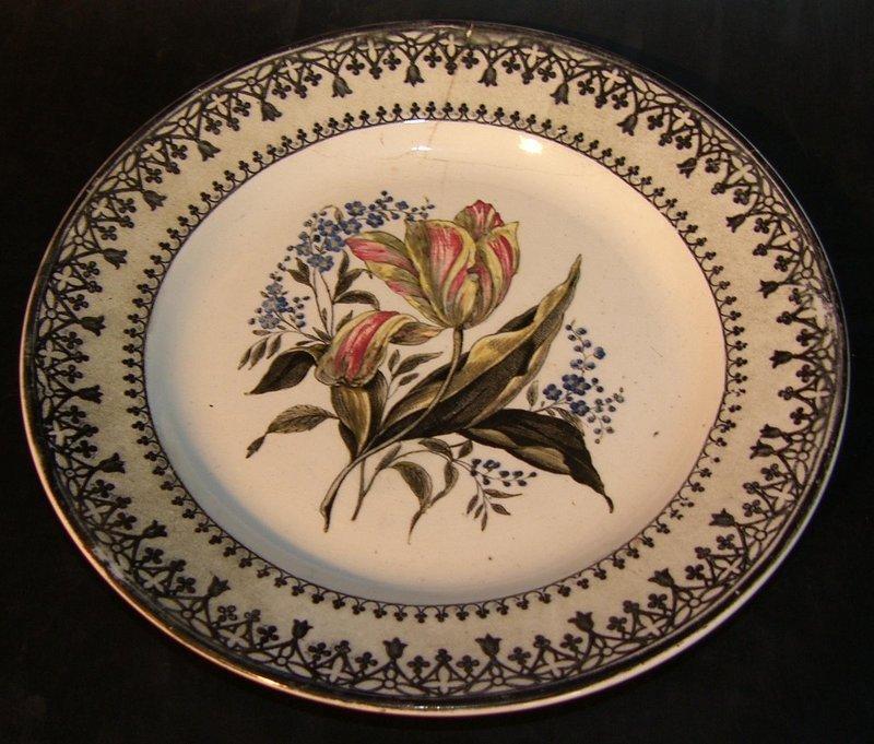 Very rare Rörstrand plate around 1825