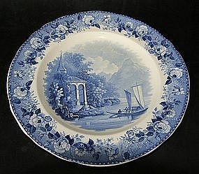 Rörstrand plate around 1830