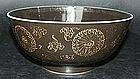 Black porcelain bowl, Kangxi (1662 - 1722)