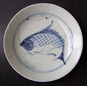 Transitional fish plate, 19:th century