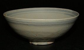 Bowl in under glaze blue, 14th century