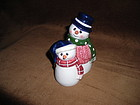 ROMAN Mr. & Mme SNOWMAN SALT & PEPPER SHAKERS
