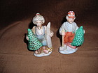 SANTA & Mrs CUTTING TREES SALT & PEPPER SHAKERS
