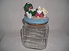 FUNNY CAT �S TREATS CLEAR GLASS JAR