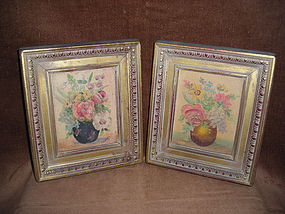 FRANK LINNELL PAIR OF GENUINE OIL PAINTINGS