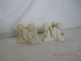 PAIR OF 3 KNEELING ANGELS