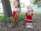 60�S  LIFE SIZE ANIMATED CHRISTMAS BOY AND GIRL