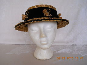 1950�s  HAND MADE STRAW HAT