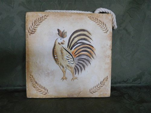 ROOSTER WALL PLAQUE