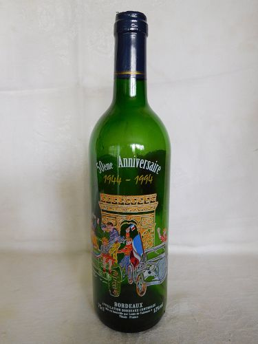 WORLD WAR II D DAY 50TH ANNIVERSARY COMEMORATIVE BOTTLE