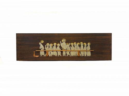GARGANTUAN 1950s Talleres Monasticos Mexican Modernist ARTWORK