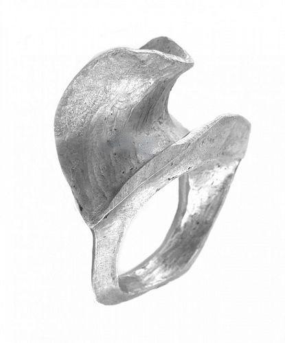 RARE 1960s Dieter Muller-Stach California Sterling Modern RING - Sz 9