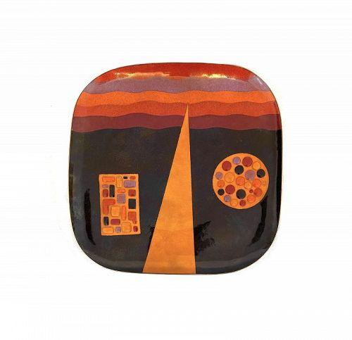 RARE 1960s Miguel Pineda Mexican Modernist Enamel ARTWORK