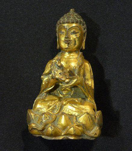Buddha gilded bronze from Korea?