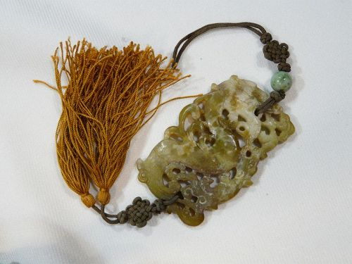 Chinese pendant in soapstone.Qing