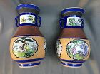 Rare pair of Yixing vases enamelled ,attributable to Shen-xi Tao-Kouan